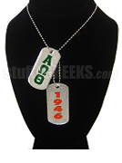 Alpha Omega Theta Dog Tags - Double with Founding Year