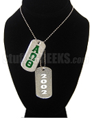 Alpha Omega Theta Christian Fraternity Dog Tags - Double with Founding Year