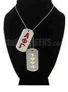 Alpha Phi Gamma Dog Tags - Double with Founding Year