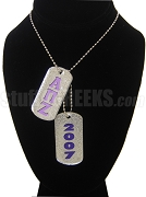 Alpha Pi Zeta Dog Tags - Double with Founding Year