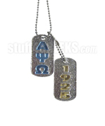 Alpha Psi Omega Dog Tags - Double with Founding Year