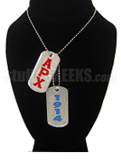 Alpha Rho Chi Dog Tags - Double with Founding Year