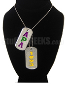 Alpha Rho Lambda Dog Tags - Double with Founding Year