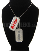 Alpha Sigma Phi Double Dog Tags - Double with Founding Year