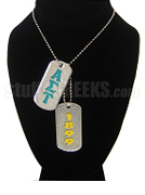 Alpha Sigma Tau Dog Tags - Double with Founding Year