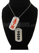 Alpha Tau Mu Double Dog Tags - Double with Founding Year