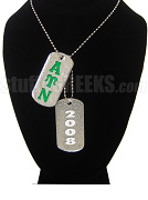 Alpha Upsilon Nu Double Dog Tag - Double with Founding Year