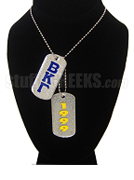 Beta Kappa Gamma Double Dog Tags - Double with Founding Year