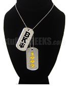 Beta Kappa Psi Double Dog Tags - Double with Founding Year