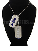 Delta Phi Lambda Double Dog Tags - Double with Founding Year