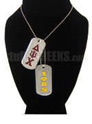 Delta Psi Chi Dog Tags - Double with Founding Year