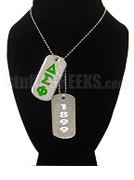 Delta Sigma Phi Double Dog Tag - Double with Founding Year