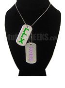 Gamma Gamma Chi Double Dog Tags - Double with Founding Year