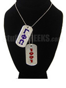 Gamma Phi Omega Sorority Double Dog Tags - Double with Founding Year