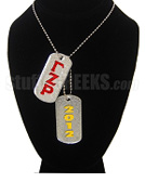 Gamma Zeta Rho Double Dog Tags - Double with Founding Year