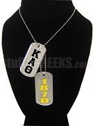 Kappa Alpha Theta Dog Tags - Double with Founding Year
