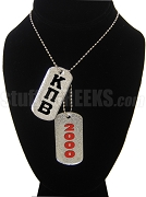 Kappa Pi Beta Double Dog Tag - Double with Founding Year