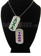 Lambda Chi Alpha Double Dog Tags - Double with Founding Year