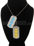 Omega Phi Alpha Dog Tags - Double with Founding Year