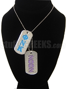 Phi Nu Kappa Dog Tags - Double with Founding Year