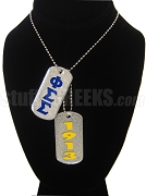 Phi Sigma Sigma Dog Tags - Double with Founding Year