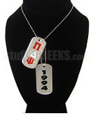 Pi Delta Psi Double Dog Tags - Double with Founding Year