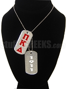 Pi Kappa Delta Double Dog Tag - Double with Founding Year