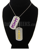 Sigma Alpha Epsilon Double Dog Tags - Double with Founding Year
