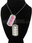 Theta Phi Sigma Dog Tags - Double with Founding Year