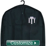 Personalized Garment Bag with Embroidery