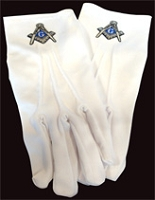 Mason Gloves with Silver Emblem
