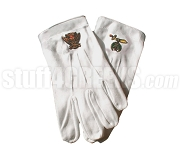 Shriners Gloves with Emblem, White