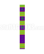 Alpha Pi Lambda Greek Letter Kente Graduation Stole, Purple