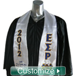 Custom Satin Graduation Stole - EMBROIDERED with Lifetime Guarantee