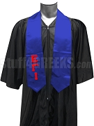Epsilon Gamma Iota Satin Graduation Stole with Greek Letters, Royal Blue
