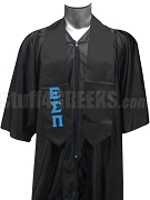 Epsilon Sigma Pi Satin Graduation Stole with Greek Letters, Black