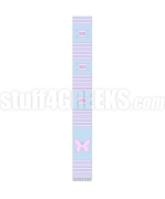 Gamma Phi Delta Sorority Kente Graduation Stole with Butterfly, Baby Blue