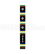 Order of the Eastern Star Letter Kente Graduation Stole, Black