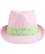 Alpha Kappa Alpha Fedora Hat with Greek Letters, Pink 08FED (SAV)