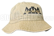 Alpha Phi Alpha Tan (Natural) Bucket Hat with Stitched Letters NS