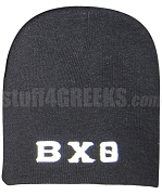 Beta Chi Theta Greek Letter Beanie Skullcap, Black
