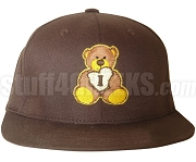 Iota Sweetheart Baseball Cap with Embroidered Teddy Bear, Brown