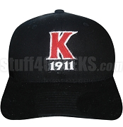 Kappa Alpha Psi Big Letter Baseball Cap with Founding Year and Side Diamond K, Black