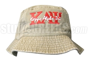 Kappa Alpha Psi Khaki Tan Bucket Hat with Stitched Letters NS