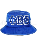 Phi Beta Sigma Floppy Bucket Hat with Greek Letters, Royal Blue (SAV)