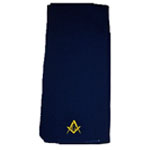 Mason Scarf with Square and Compasses, Navy Blue