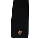 Phi Mu Alpha Black Scarf with Crest
