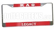 Kappa Alpha Psi Legacy License Plate Frame- Kappa Alpha Psi Car Tag