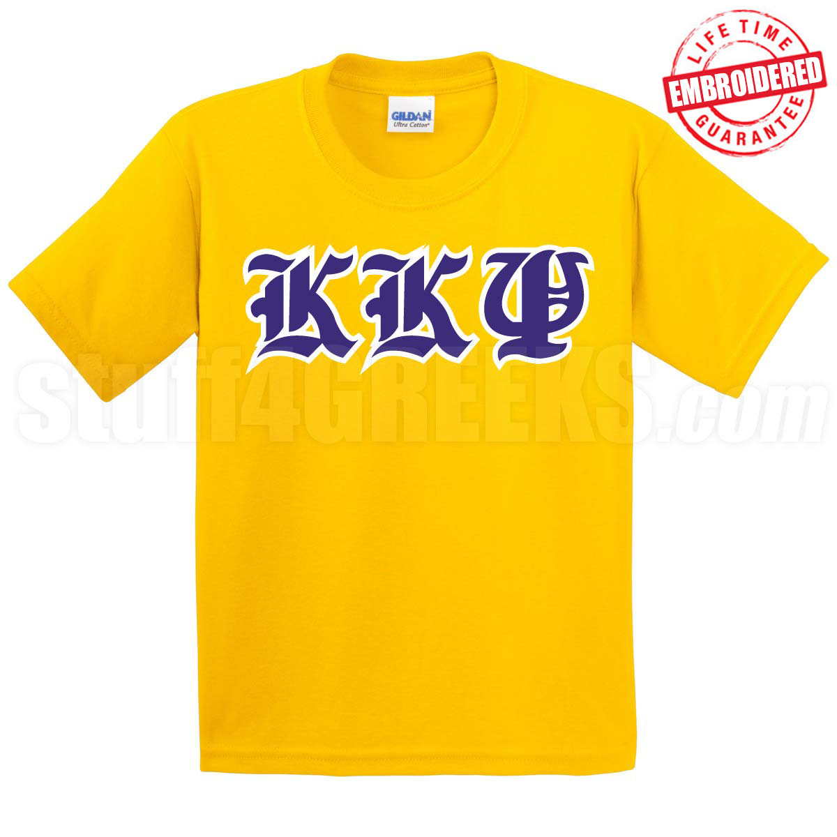 Kkpsi old english t shirt gold embroidered with