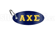 Alpha Chi Sigma Key Chain with Letters, Navy Blue